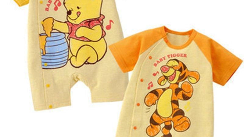 Summer Newborn Baby Romper Cartoon Pooh Bear Tigger