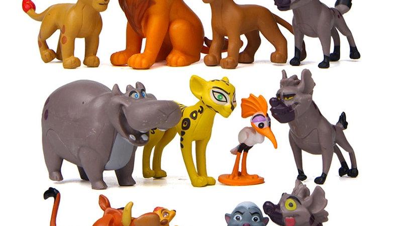 12 Pcs/Set Movie the Lion King Anime Action Figures