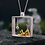 Thumbnail: Real 925 Sterling Silver Designer 18K Gold Cat Playing Balls Pendant