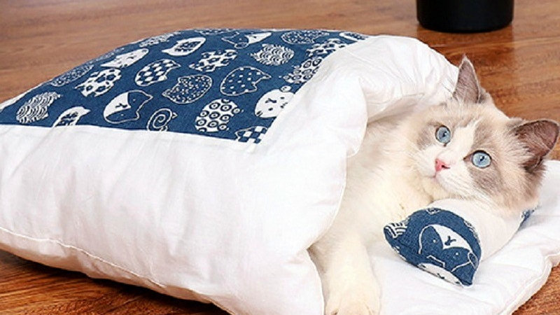 Removable Cats Bed Sleeping Bag