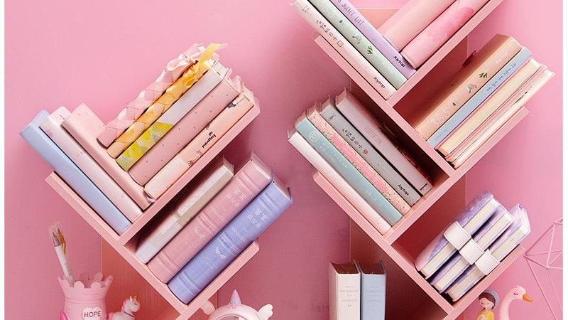 Wood Bookshelf Desktop