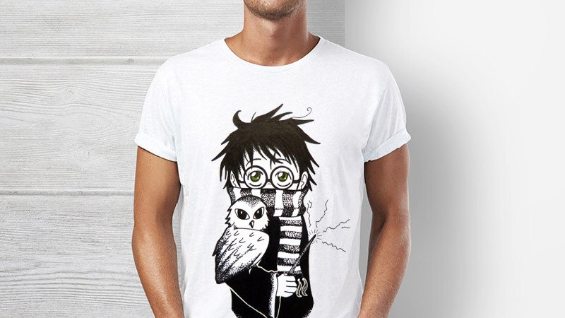 Harry Potter T-Shirt Owly Potter-Lover Kawaii Parody Hogwarts Hipster