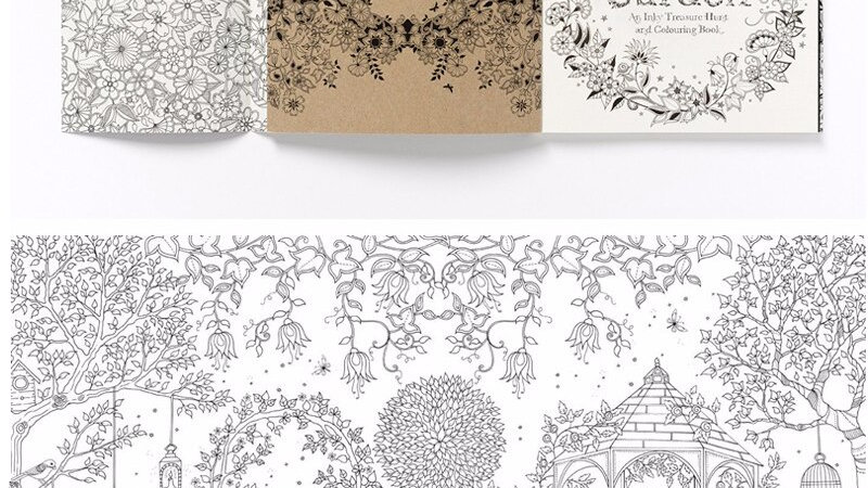 24 Pages English Edition Anti Stress Secret Garden Coloring Books