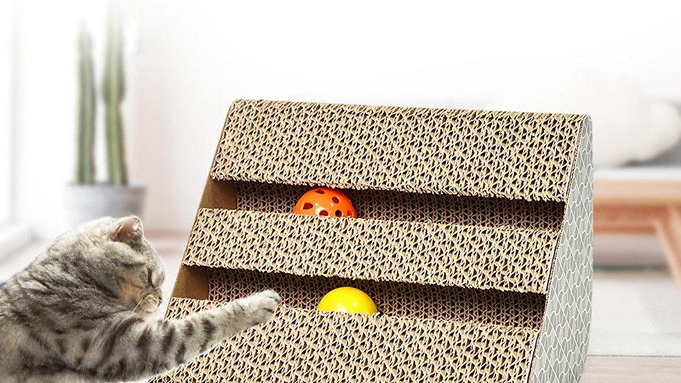 Cat Scratcher With Catnip Corrugated Paper