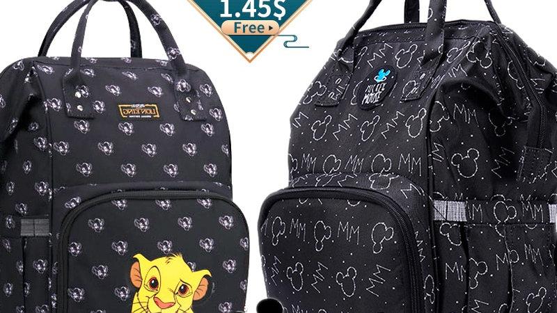Disney Lion King USB Diaper Bag Organiser Large Capacity