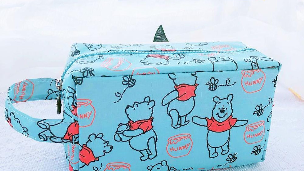 Disney Winnie the Pooh Waterproof Cosmetic Wash  Storage Coin Bag Handbag