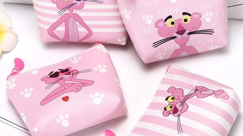 The Pink Panther Coin Purse PU Zipper
