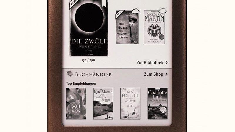 E-Book Reader Built in Light WiFi 6 Inch Touch Screen 1024x758