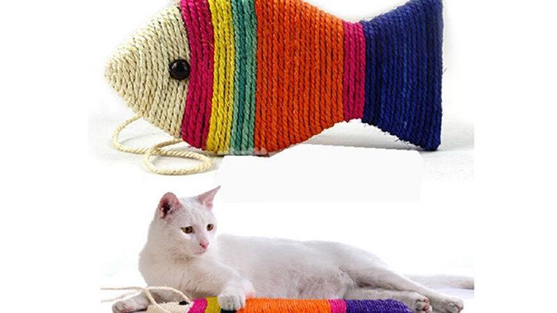 Fish Shape Cat Toys Cat Scratch Board