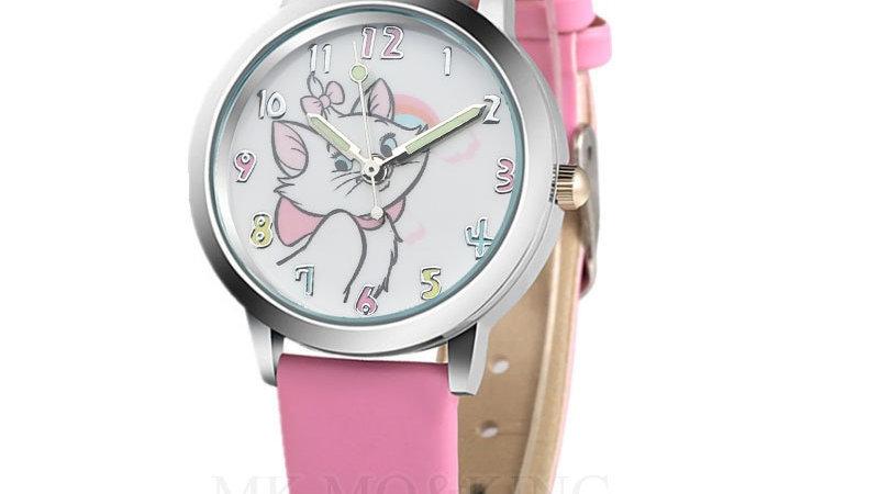 Cute Cat Cartoon Quartz Watch Child