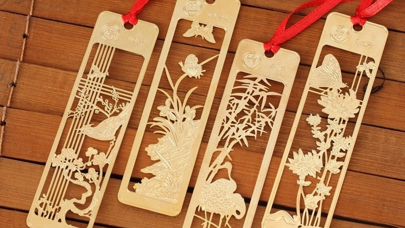 4 Pcs / Lot Kawaii Chinese Style Vintage Exquisite Metal Bookmark