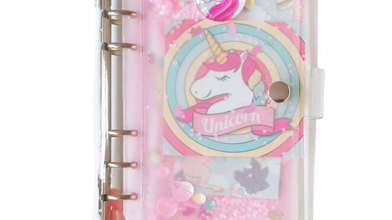 Kawaii Binder Notebook Cute Unicorn Journal A6 Diary Agenda Planner Organiser