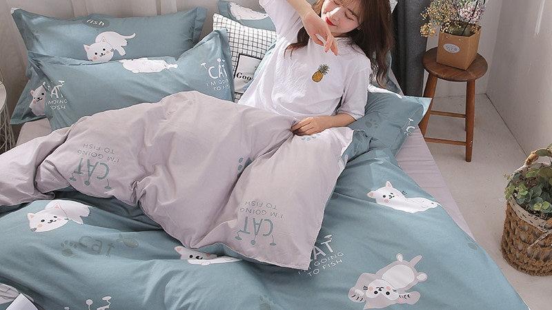 Cartoon Cat Bedding Sets