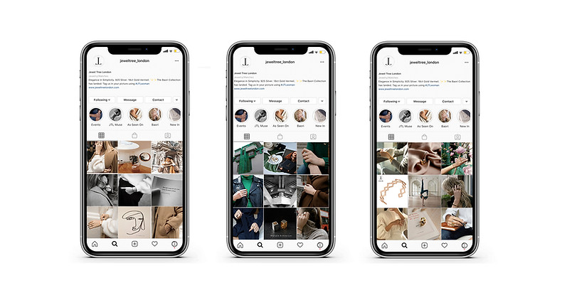 Jewel Tree London Instagram Feed Layout