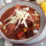 Taro curry, ginger and pickled garlic. Vegan recipe.jpg