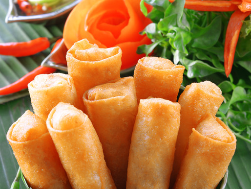 Vegetable spring rolls, a Thai favourite