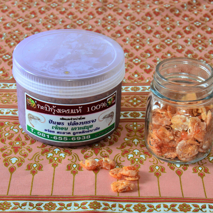 shrimp paste and dried shrimps