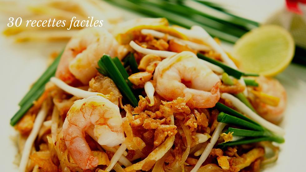 Les Pad Thaï, nouilles et riz