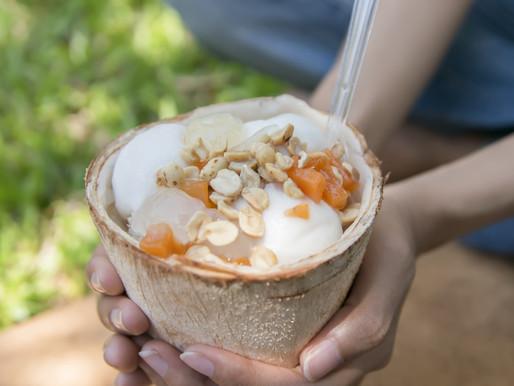 Crème glacée coco et citronnelle