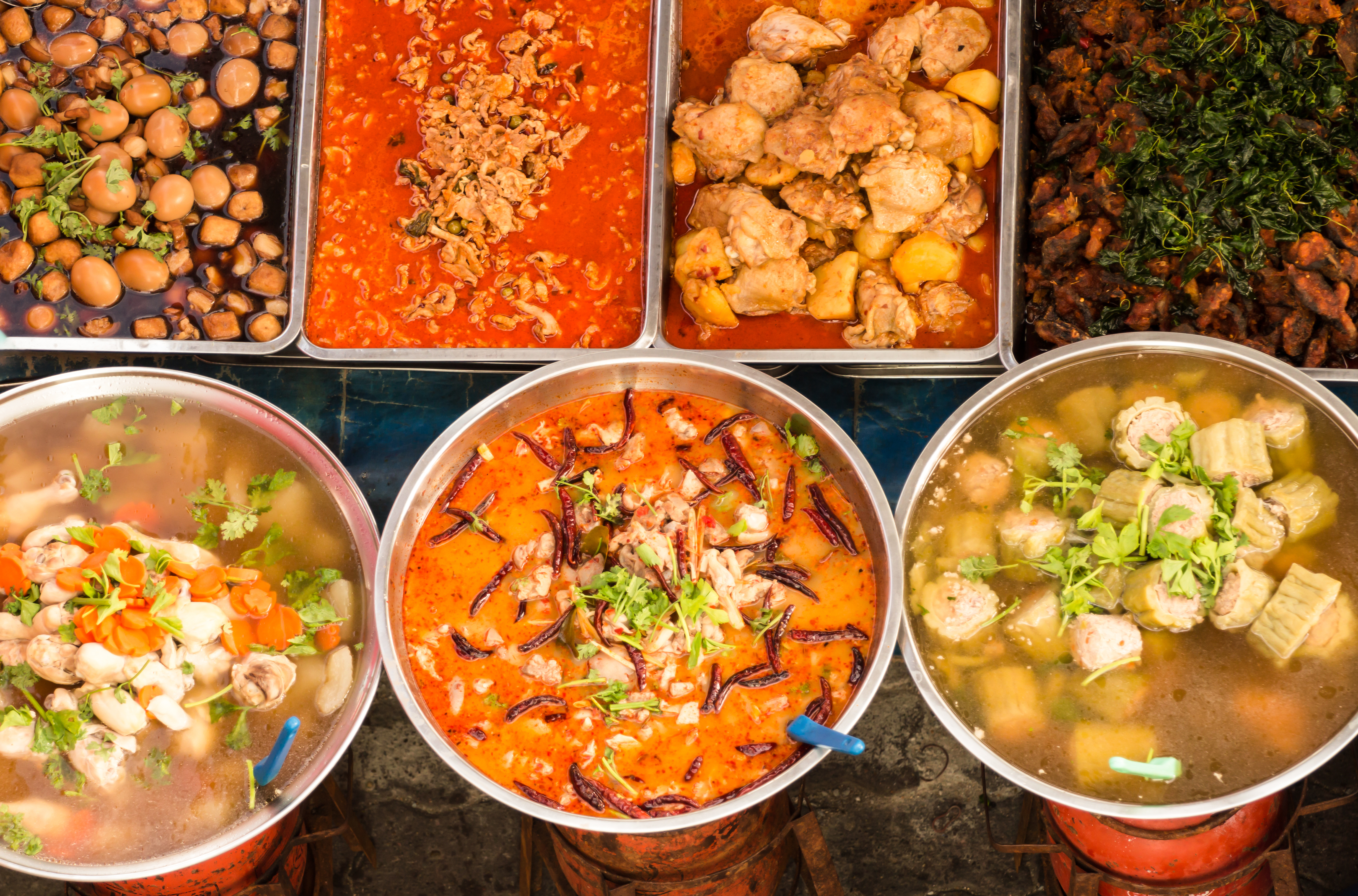 Thai food on the street is delicious and inexpensive to buy, especially in Bangkok