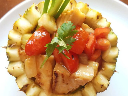 Sweet and sour tofu with pineapple