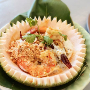 Pomelo-Salat mit Garnelen