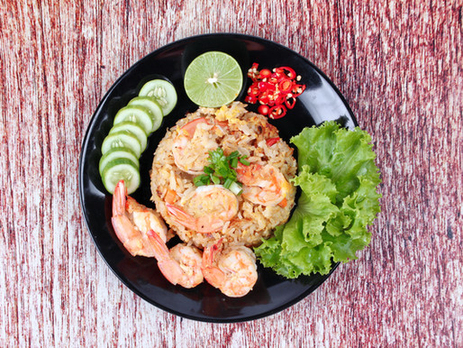 Thai fried rice with prawns, or Khaw Pad Kung