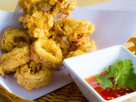 Beignets croustillants de calamar, ou plameuk tod
