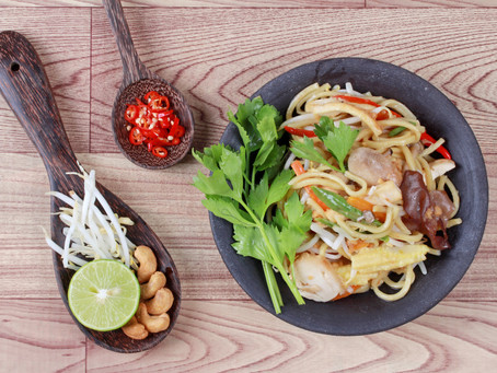 Gemüse und Tofu mit Ingwer gebraten