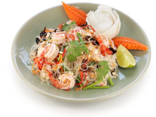 Salades de nouilles cristal, ou yam woon sen