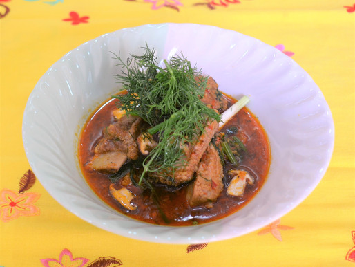 Spicy pork ribs and mushroom curry