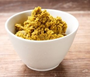 Yellow curry paste from Southern Thailand