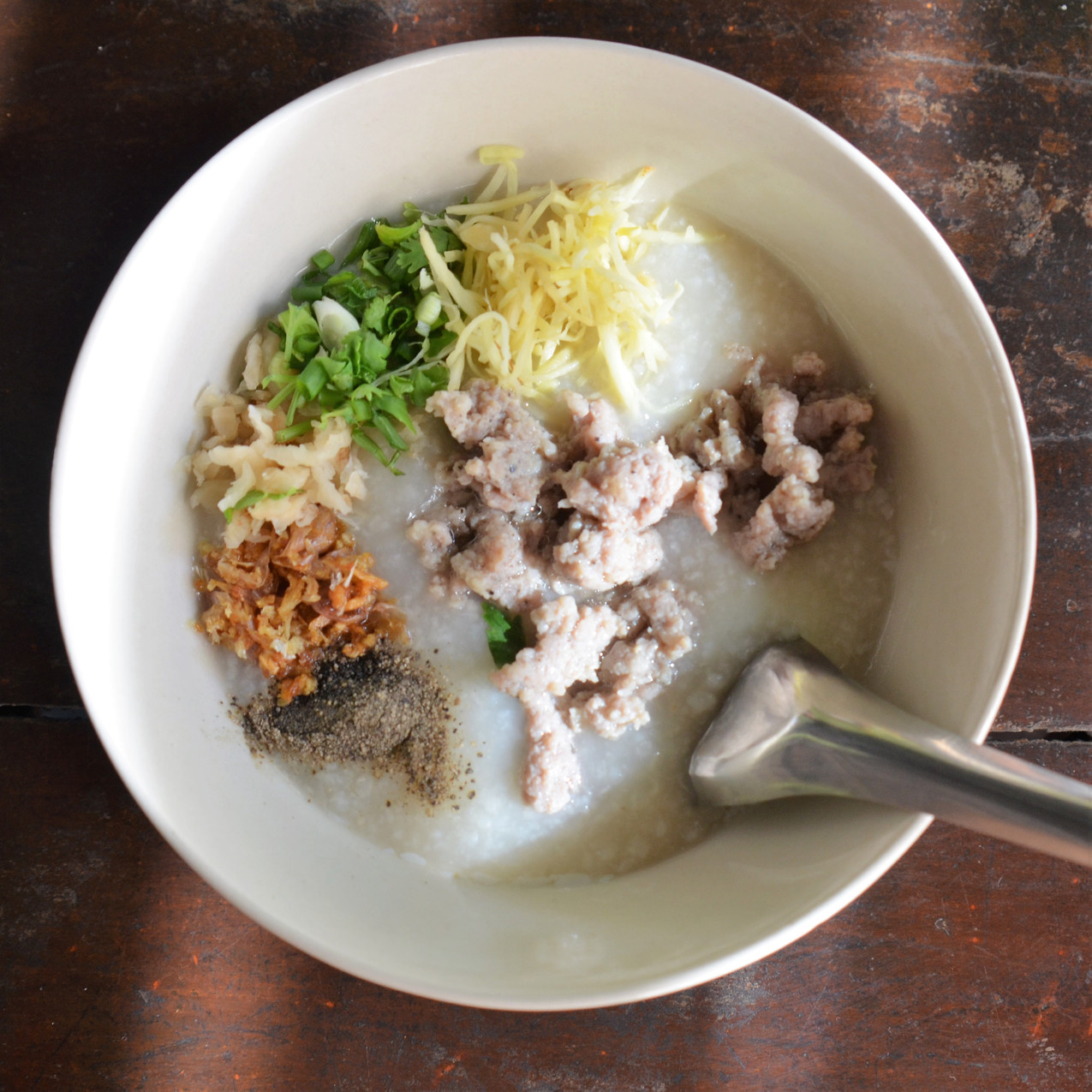 pork porridge with egg