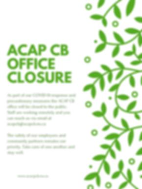 ACAP CB office closed.png