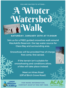 A Winter Watershed Walk @ MacAskills Reservoir