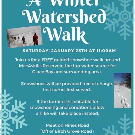 A Winter Watershed Walk @ MacAskills Reservoir