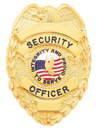 Security Officer Badge with Eagle