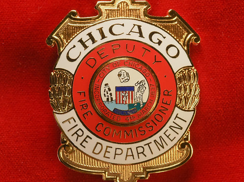 Lucite Box Deputy Fire Commissioner Badge & Replacement Badge