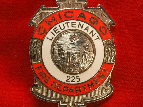 Lucite Box Lieutenant Badge & Replacement Badge