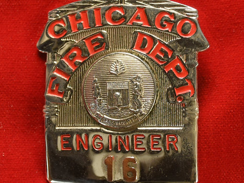 Lucite Box Engineer Badge & Replacement Badge