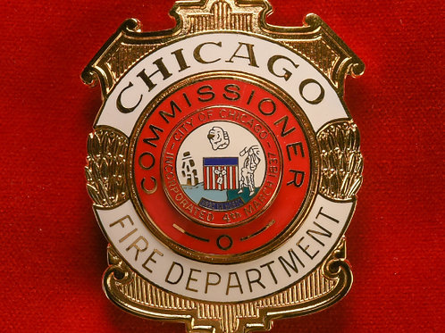 Lucite Box Commissioner Badge & Replacement Badge