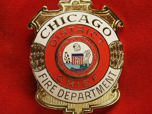 Lucite Box District Chief Badge & Replacement Badge