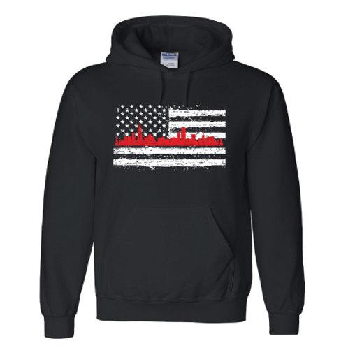 Red Line Flag Hoodie