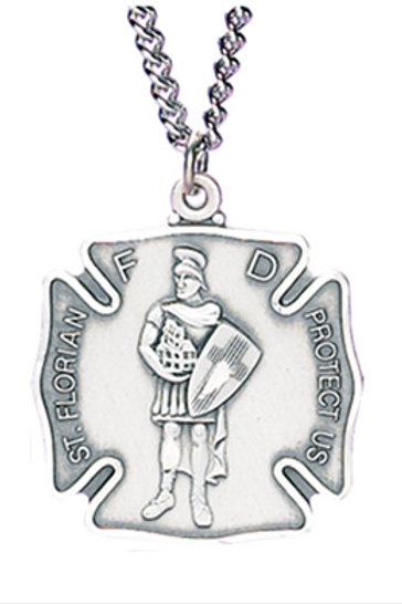 Saint Florian Pedant with Chain