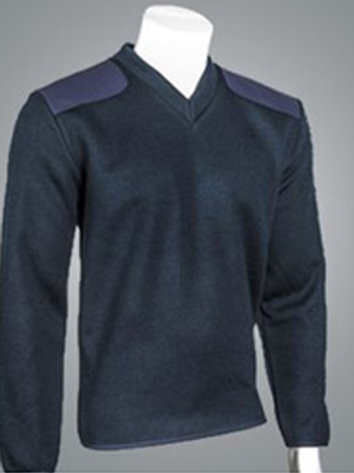 Fleece Lined V- Neck Pullover