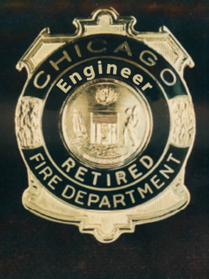 Retired Lucite Box Engineer Replica Badge