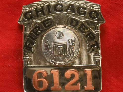 Lucite Box Fire Fighter Badge & Replacement Badge