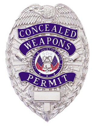Concealed Weapons Permit Shield