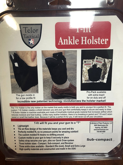 Telor Tactical Fit Ankle Holster Sub-Compact