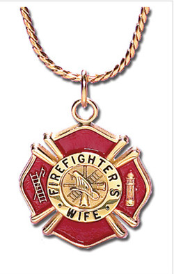 FireFighter's Wife Charm With Chain